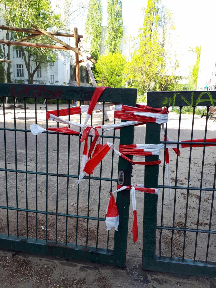 Schließung Spielplätze